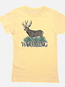 Wyoming buck Girl's Tee