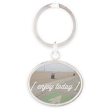 Enjoy Today Oval Keychain