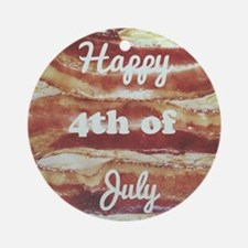 Happy Fourth of July Round Ornament
