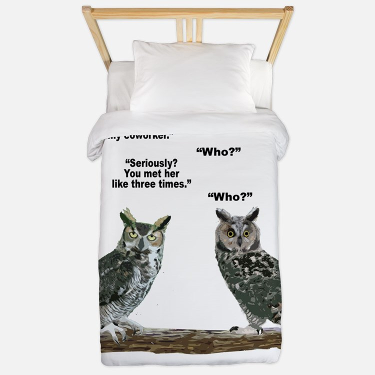 Not So Wise Old Owls Twin Duvet