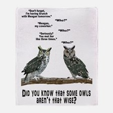Not So Wise Old Owls Throw Blanket