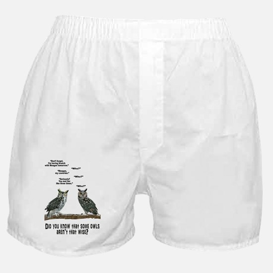Not So Wise Old Owls Boxer Shorts