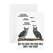 Not So Wise Old Owls Greeting Card