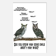 Not So Wise Old Owls Postcards (Package of 8)