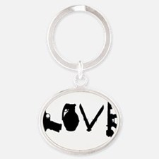 Love Weapons Oval Keychain