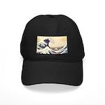 Kanagawa Japanese Art Black Cap