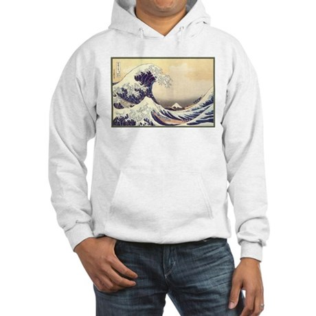 Kanagawa Japanese Art Hooded Sweatshirt