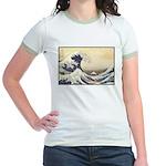 Kanagawa Japanese Art Jr. Ringer T-Shirt