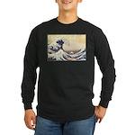 Kanagawa Japanese Art Long Sleeve Dark T-Shirt