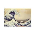 Kanagawa Japanese Art Rectangle Magnet (100 pack)
