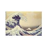 Kanagawa Japanese Art Rectangle Magnet (10 pack)