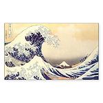 Kanagawa Japanese Art Rectangle Sticker