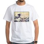 Kanagawa Japanese Art White T-Shirt
