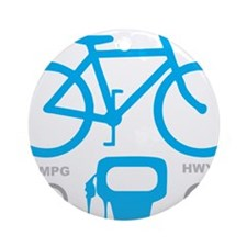 Biking MPG Round Ornament