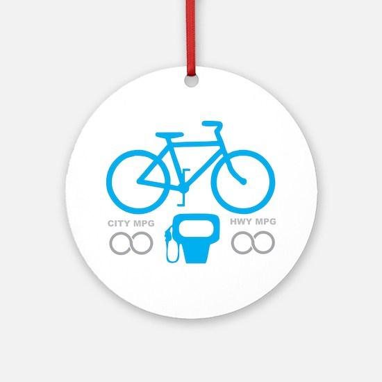 Biking MPG Round Ornament