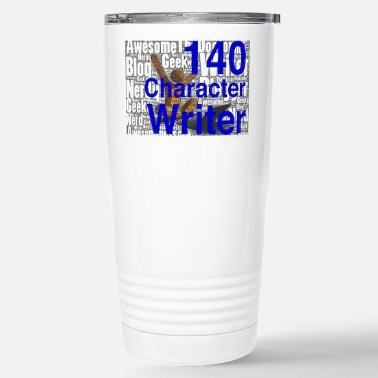 140 Character Writer Stainless Steel Travel Mug