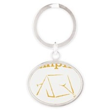 Camping is in Tents Oval Keychain