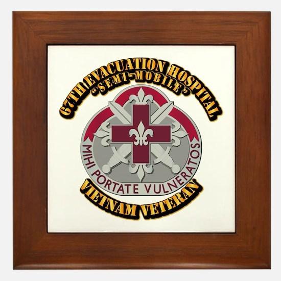 Army - 67th Evacuation Hospital Framed Tile