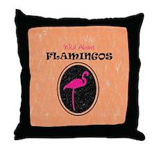 Wild About Flamingos Throw Pillow