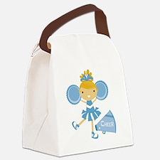 Cheerleader in Blue Canvas Lunch Bag