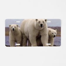 Polar Family Aluminum License Plate