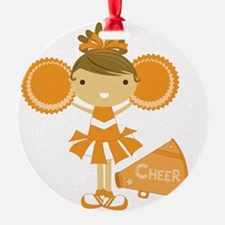 Cheerleader in Orange Ornament