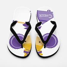 Cheerleader in Purple Flip Flops