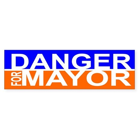 Carlos Danger for Mayor Sticker (Bumper)