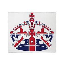 Union Jack Crown Throw Blanket