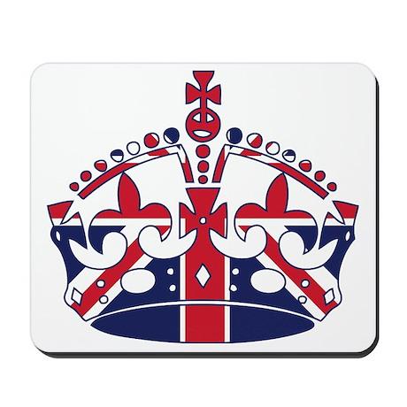 Union Jack Crown Mousepad