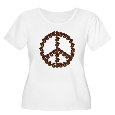 Peace by Chocolate Women's Plus Size Scoop Neck T-