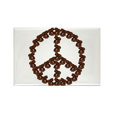 Peace by Chocolate Rectangle Magnet