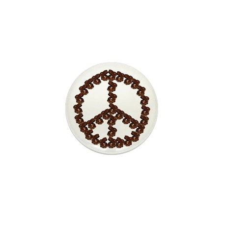 Peace by Chocolate Mini Button (100 pack)