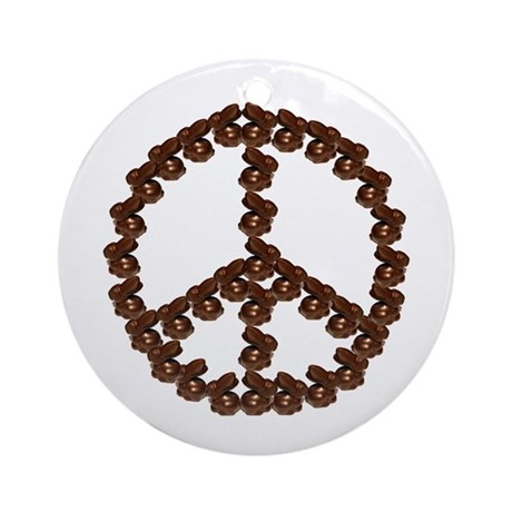 Peace by Chocolate Ornament (Round)