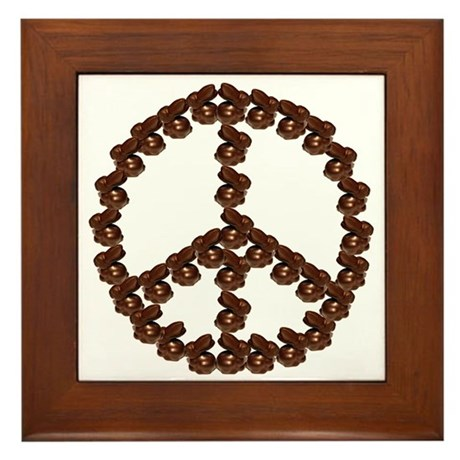 Peace by Chocolate Framed Tile