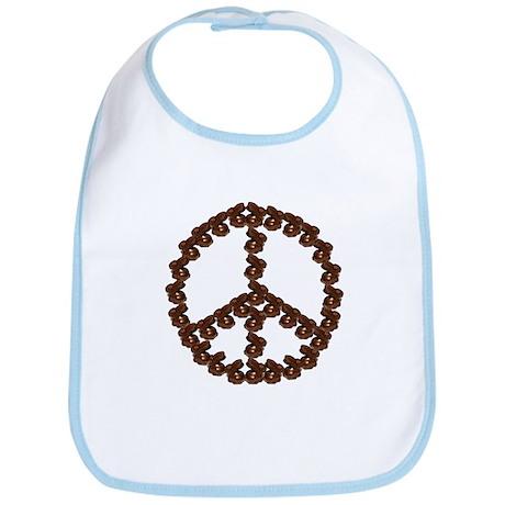 Peace by Chocolate Bib