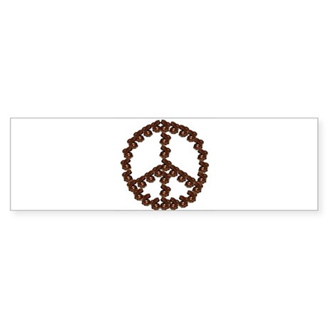 Peace by Chocolate Bumper Sticker