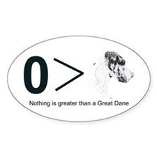 NH Greater Than Oval Decal