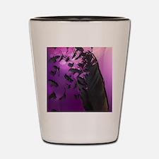 Crow Feather Purple Shot Glass
