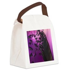 Crow Feather Purple Canvas Lunch Bag