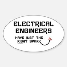 Electrical Engineers Sparks Oval Decal