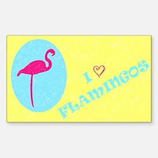 I Love Flamingos! 2 Rectangle Decal