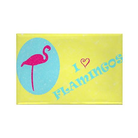 I Love Flamingos! 2 Rectangle Magnet