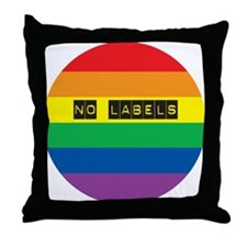 NO LABELS Throw Pillow