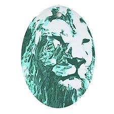 No Lion Oval Ornament