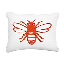 bee orange Rectangular Canvas Pillow