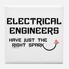 Electrical Engineers Sparks Tile Coaster