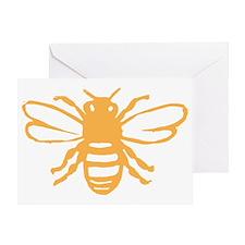 bee yellow Greeting Card