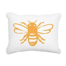 bee yellow Rectangular Canvas Pillow