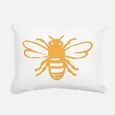 bee yellow Rectangular Canvas Pillow
